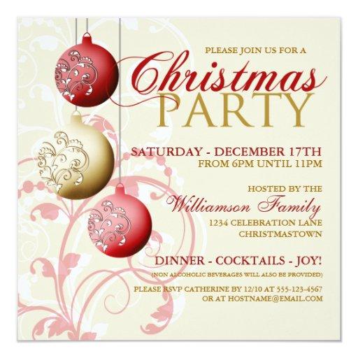 Invitación festiva de la fiesta de Navidad