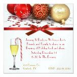 Invitación festiva de la fiesta de Navidad de la