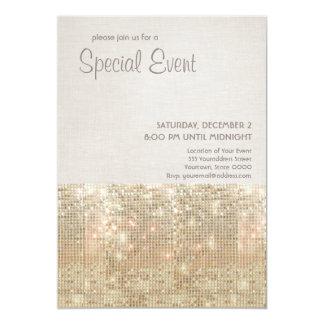 Invitación festiva del fiesta de las lentejuelas