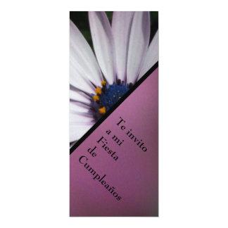 Invitación - Fiesta Cumpleaños - Margarita Blanca 4x9.25 Paper Invitation Card