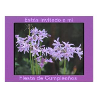 Invitación - Fiesta Cumpleaños - Púrpura Card