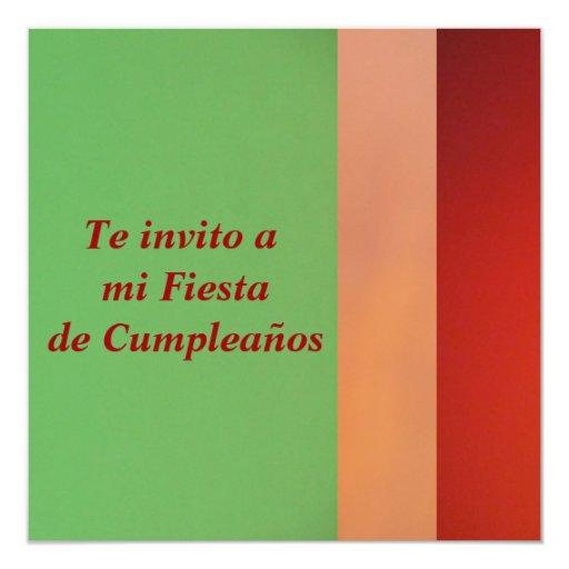 Invitación - Fiesta de Cumpleaños Invitación 13,3 Cm X 13,3cm