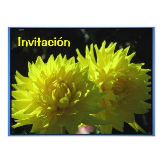 Invitación - Fiesta de Cumpleaños - Las Dalias Card