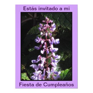 Invitación - Fiesta de Cumpleaños - Púrpura Card