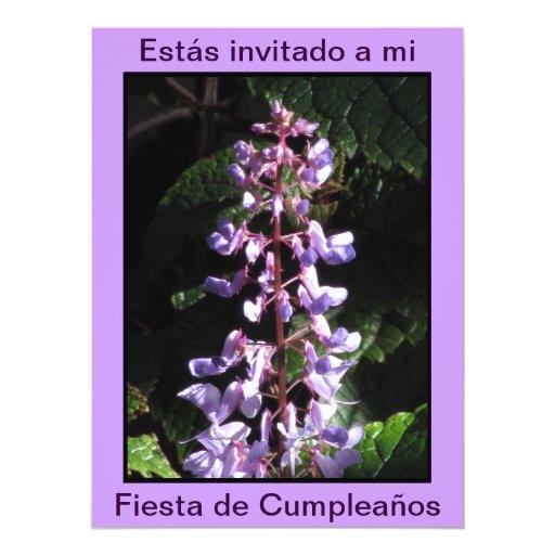 Invitación - Fiesta de Cumpleaños - Púrpura 6.5x8.75 Paper Invitation Card