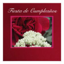 Invitación - Fiesta de Cumpleaños - Rosa roja Custom Invitations