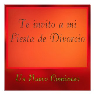 Invitación - Fiesta de Divorcio Announcement