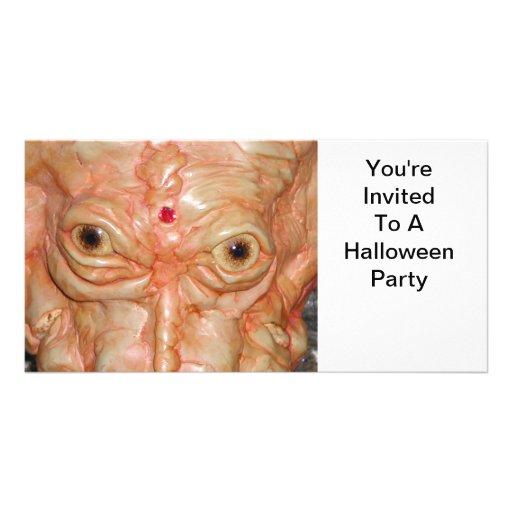 Invitación, fiesta de Halloween, monstruo Tarjeta Personal Con Foto