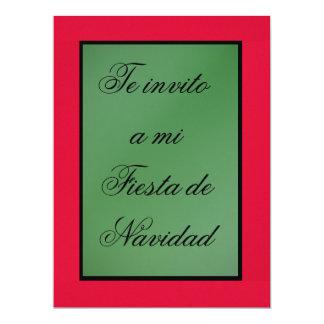 Invitación - Fiesta de Navidad - Colors of México Card
