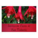 Invitación - Fiesta de San Valentín - Flores Rojas Invitation