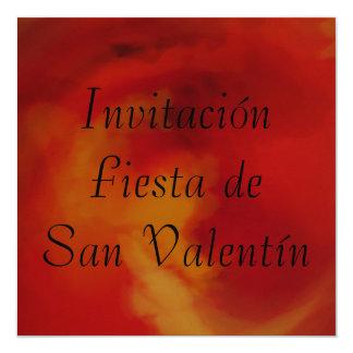 Invitación - Fiesta de San Valentín - Naranja Card