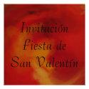 Invitación - Fiesta de San Valentín - Naranja Personalized Invite
