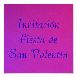 Invitación - Fiesta de San Valentín - Púrpura-rosa Card