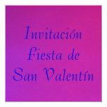 Invitación - Fiesta de San Valentín - Púrpura-rosa Announcement