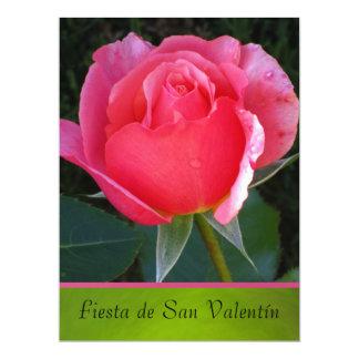 Invitación - Fiesta de San Valentín - Rosa rosa Card