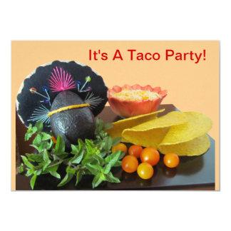 """Invitación--Fiesta del Taco Invitación 4.5"""" X 6.25"""""""