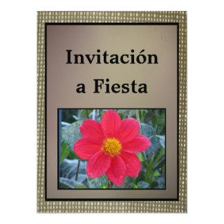 Invitación - fiesta - Flor Roja Invitación 16,5 X 22,2 Cm