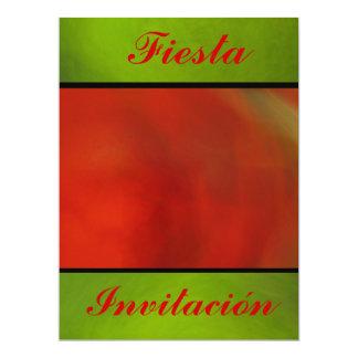 Invitación - Fiesta - Naranja y Verde Card