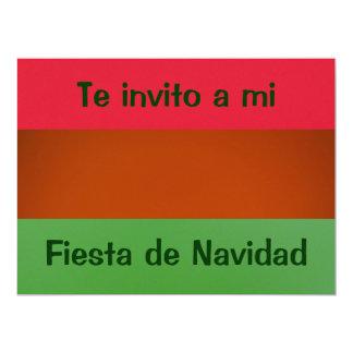 Invitación - Fiesta Navidad - Colors of México Card