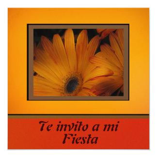 Invitación - Fiesta - Orange Daisy Card