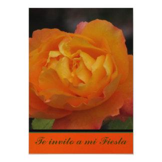 Invitación - Fiesta - Orange Flower Card