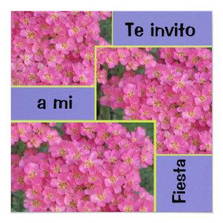 Invitación - Fiesta - Pink Flowers Card