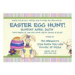 Invitación floja de la caza del huevo de Pascua de