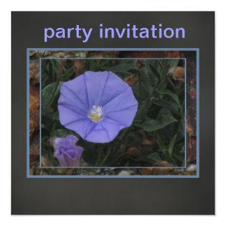 Invitación - flor azul - tarjeta multiusos