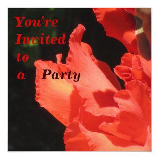 Invitación - flor de Gladiola del fiesta Invitación 13,3 Cm X 13,3cm