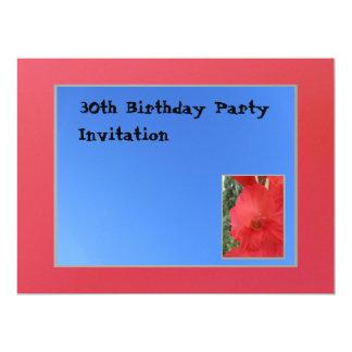 Invitación - flor roja - multiusos