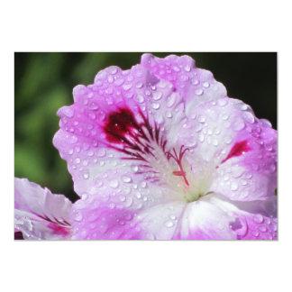 Invitación - flor rosada invitación 12,7 x 17,8 cm