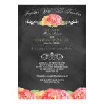 Invitación floral abstracta del boda de la pizarra