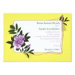 Invitación floral amarilla color de rosa salvaje invitación 12,7 x 17,8 cm