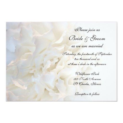 Invitación floral blanca del boda