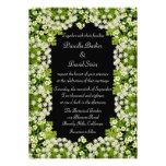 Invitación floral blanca del boda del jardín