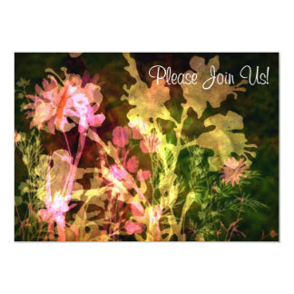 Invitación floral brillante del boda