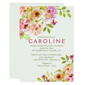 Invitación floral de acoplamiento