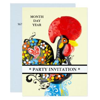 Invitación floral de Barcelos Nr 06 del gallo