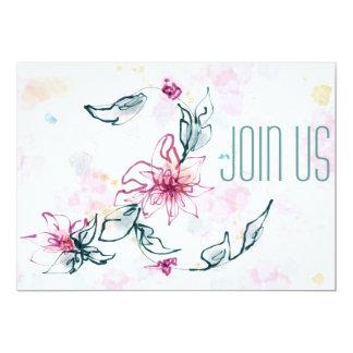 Invitación floral de la acuarela