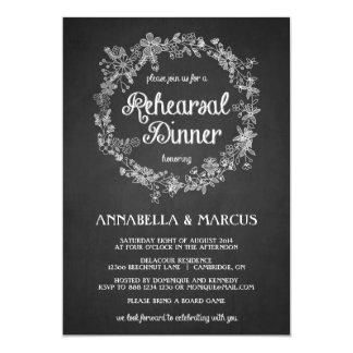 Invitación floral de la cena del ensayo de la invitación 12,7 x 17,8 cm