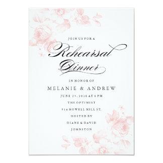 Invitación floral de la cena del ensayo del invitación 12,7 x 17,8 cm