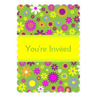 Invitación floral de la diversión de encargo