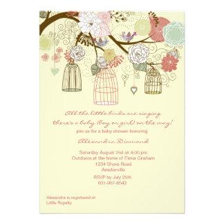 Invitación floral de la fiesta de bienvenida al be