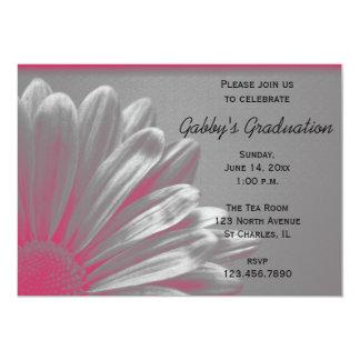 Invitación floral de la fiesta de graduación de