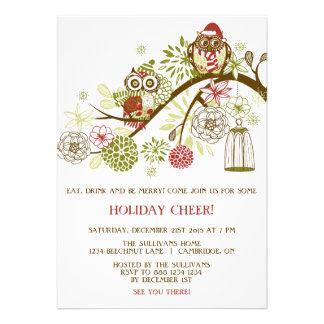 Invitación floral de la fiesta de Navidad de los b