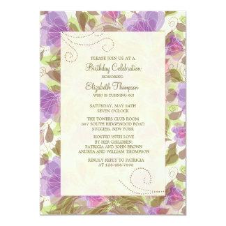 Invitación floral de las petunias