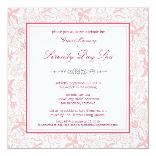 Invitación floral de lujo de la gran inauguración
