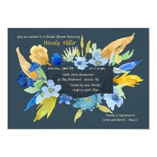 Invitación floral del añil