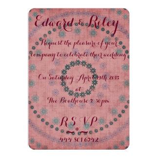 Invitación floral del boda invitación 12,7 x 17,8 cm