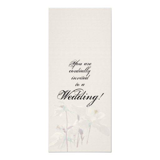 Invitación floral del boda
